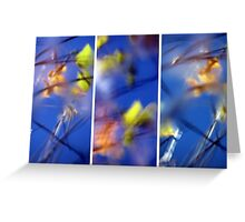 Beyond Blue - Triptych Greeting Card