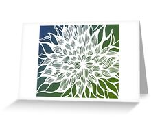flower (green-blue) Greeting Card