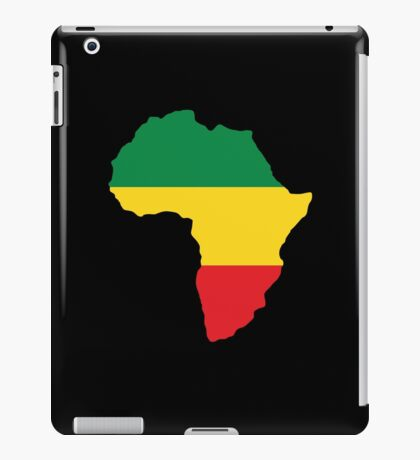 Green, Gold & Red Africa Flag iPad Case/Skin