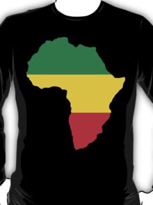 Green, Gold & Red Africa Flag T-Shirt