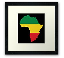 Green, Gold & Red Africa Flag Framed Print