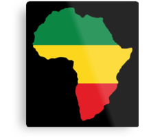 Green, Gold & Red Africa Flag Metal Print