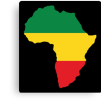 Green, Gold & Red Africa Flag Canvas Print