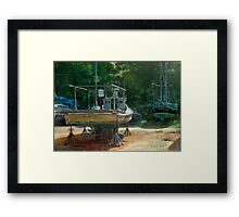 Dry Dock Dreams: The Rampage Framed Print