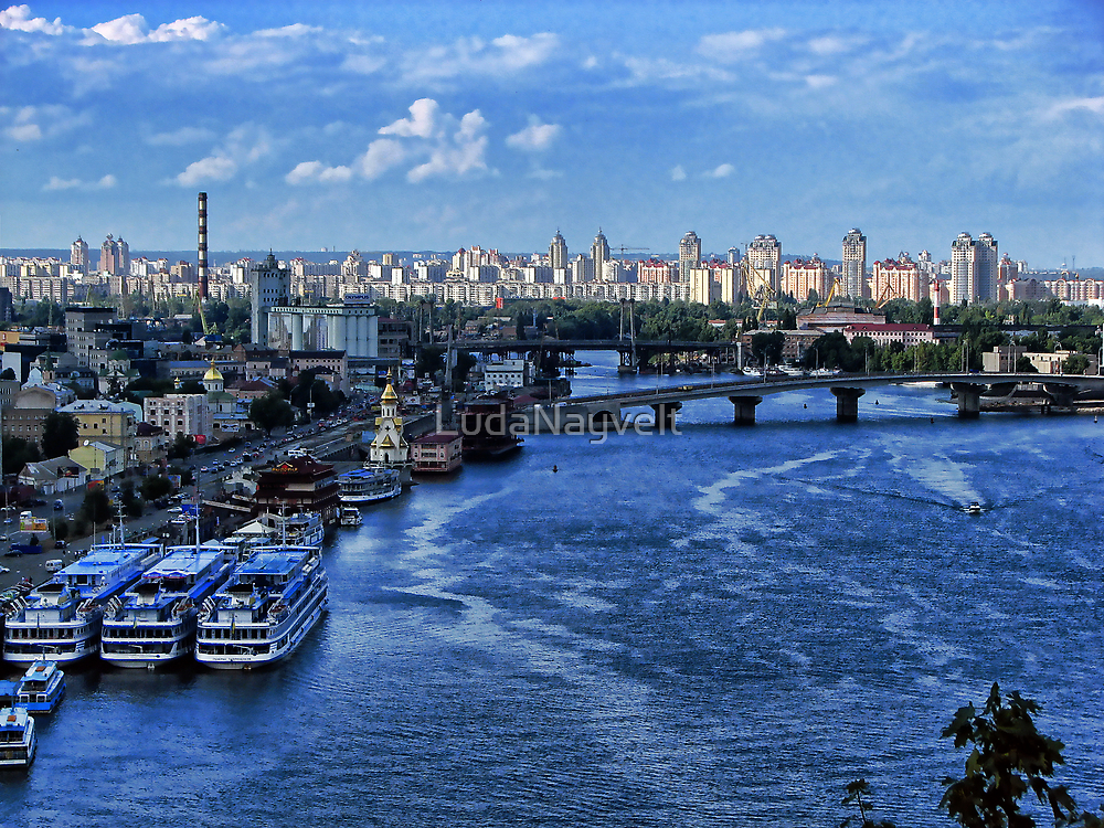 Kiev - view on River Port by LudaNayvelt