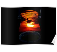 Sunset Candle Holder Poster