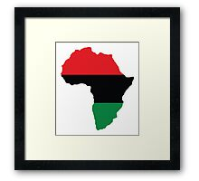 Red, Black & Green Africa Flag Framed Print