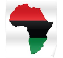 Red, Black & Green Africa Flag Poster