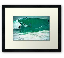 Surfing The Wedge Framed Print