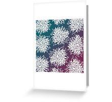 flower pattern (blue-purple) Greeting Card