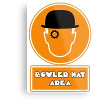 Bowler Hat Area Metal Print