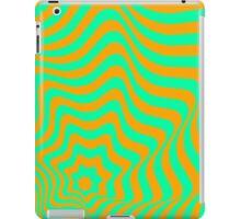 Op-Art Blue/Orange iPad Case/Skin