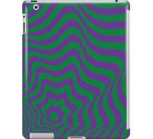 Op-Art Green/Purple iPad Case/Skin