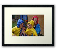 'My boys' Framed Print