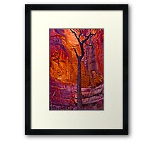 Zions Crimson Cliffs Framed Print
