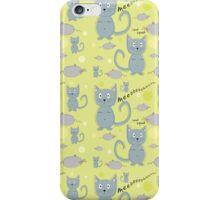 Cat and mice iPhone Case/Skin