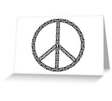 Peace Bombs Greeting Card