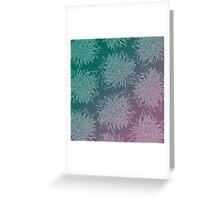 flower pattern (purple-green) Greeting Card