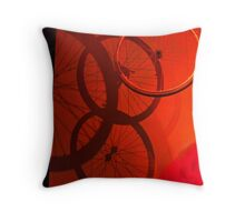 Bicycle Blitzkrieg Throw Pillow
