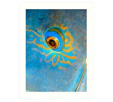 Blue Grouper Eye Art Print