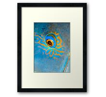 Blue Grouper Eye Framed Print