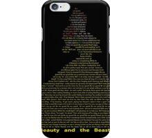 Belle in Text Art iPhone Case/Skin