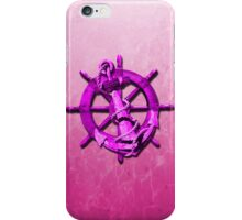 Pink Nautical Ships Wheel And Anchor iPhone Case/Skin