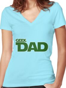 Geek dad Women's Fitted V-Neck T-Shirt