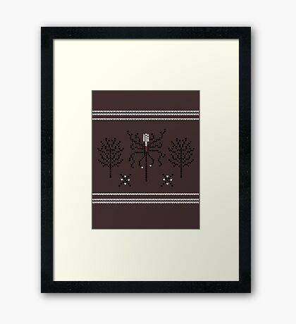 Knitted Slenderman Framed Print
