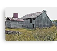 """Nostalgic Old Barn, the Back Side""... prints and products Canvas Print"