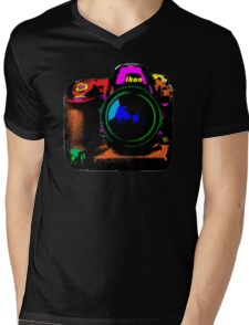 Camera pop art Mens V-Neck T-Shirt