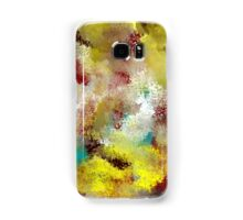 Textured Abstract in Turquoise, Gold, Red, and White Samsung Galaxy Case/Skin