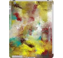 Textured Abstract in Turquoise, Gold, Red, and White iPad Case/Skin