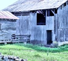 """Nostalgic Old Barn ... the Back Side  (Pastelized)""... prints and products Sticker"