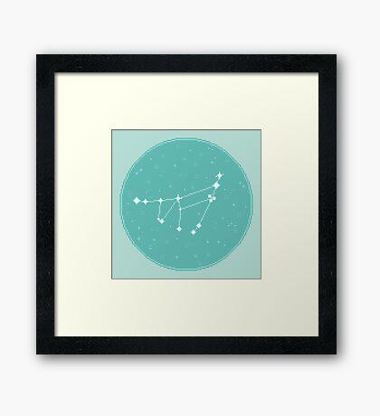 8bit Constellations:  Capricorn Framed Print