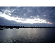 Geelong on dusk... Photographic Print