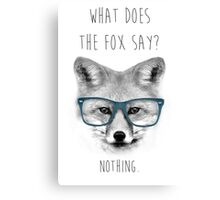 What Does The Fox Say? #2 Canvas Print
