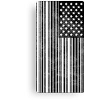 Barcode Flag Canvas Print