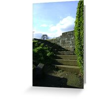 Giant steps into tinyland Greeting Card
