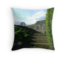 Giant steps into tinyland Throw Pillow