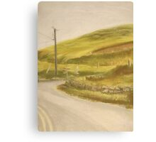 Ireland: Country Crossroad Canvas Print