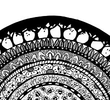 Zentangle Arch of Nature by Jeri Stunkard