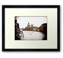 The Grand Canal in monochrome, Venice Framed Print