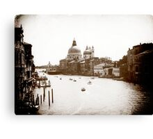 The Grand Canal in monochrome, Venice Canvas Print