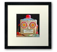 Vintage Robot Framed Print