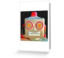 Vintage Robot Greeting Card