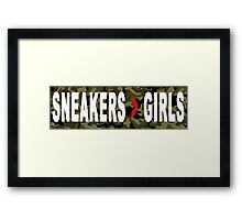 SNEAKERS ADDICT Framed Print