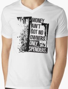 "Money Ain't Got No Owners - ""The Wire"" - Dark Mens V-Neck T-Shirt"