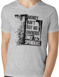 """Money Ain't Got No Owners - """"The Wire"""" - Dark Mens V-Neck T-Shirt"""