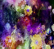 Purple Floral Fantasy by Darlene Lankford Honeycutt